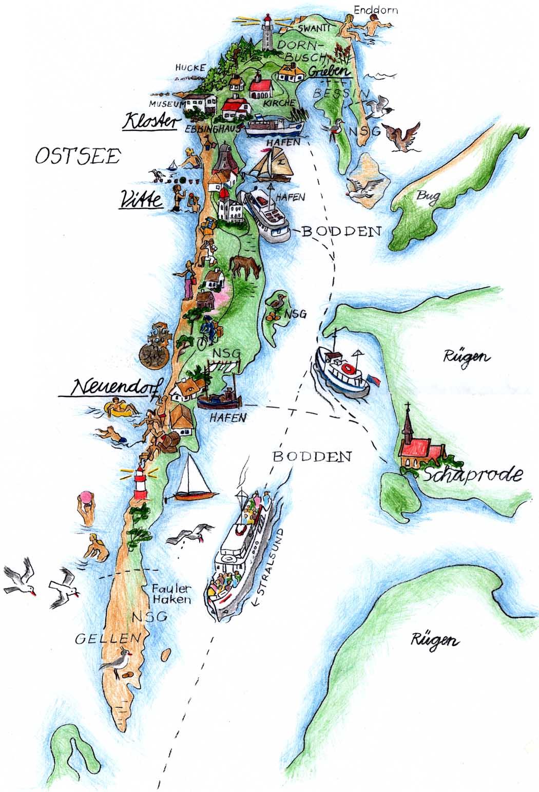 Insel_Hiddensee_Karte