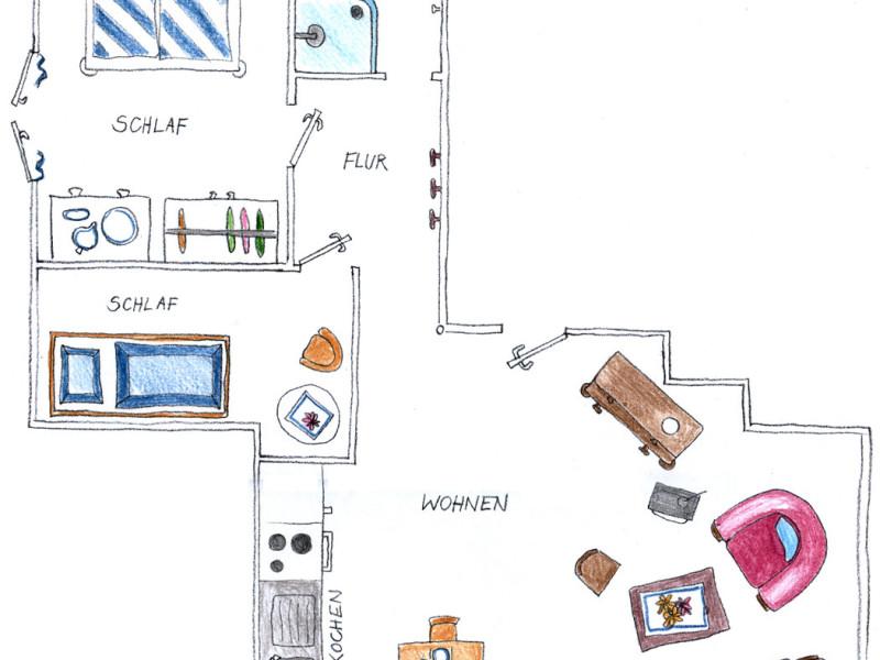 Wohnung 1 Grundriss
